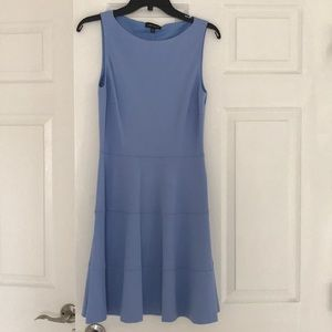 Periwinkle fit and flare dress